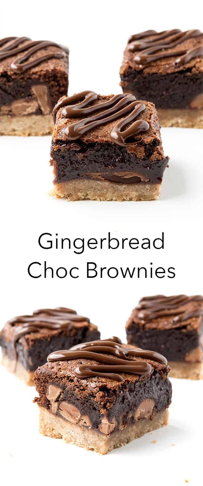 Gingerbread Chocolate Brownies