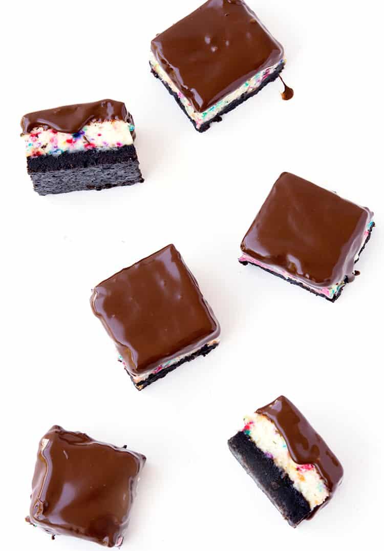 Mini funfetti Oreo cheesecakes