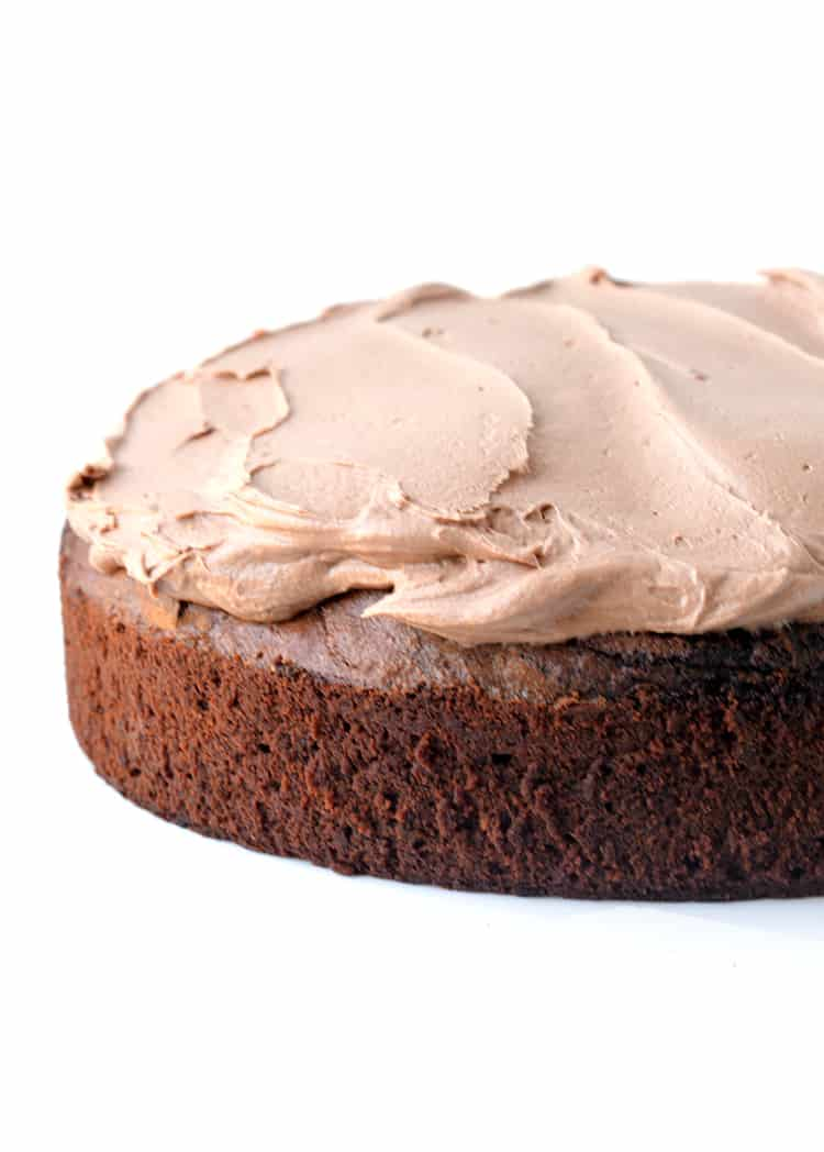 Chocolate mud cake with milk chocolate frosting