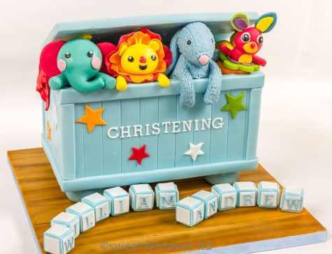 Boys Toy Box Christening Cake