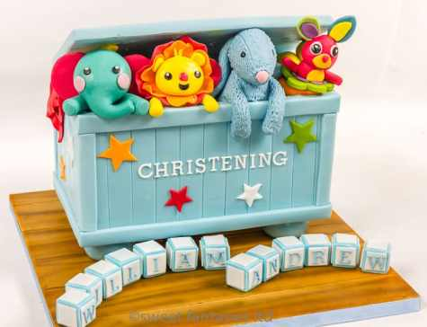 Boys Toy Box Christening Cake
