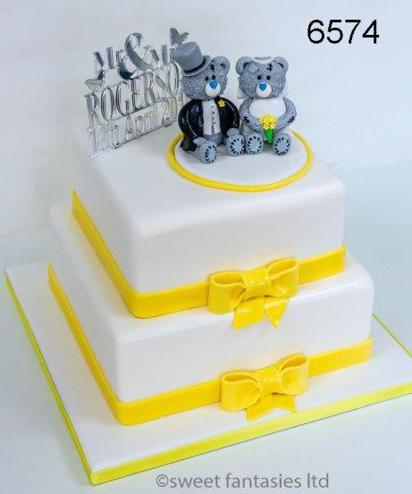 2 Tier Square Wedding Cake
