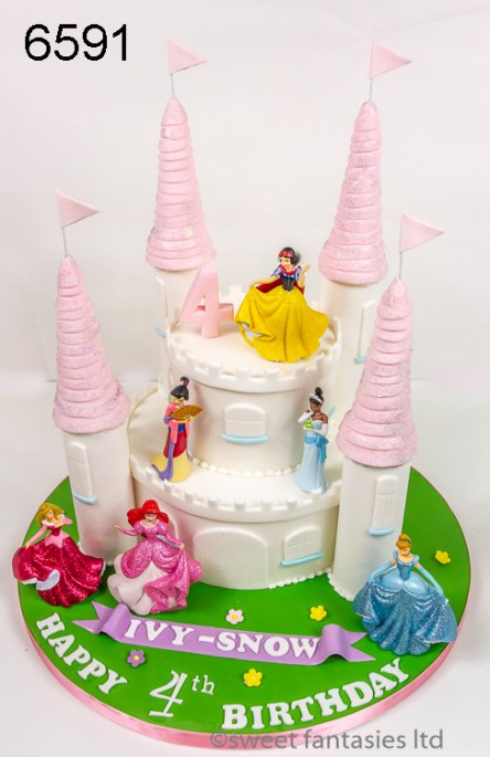 Disney Castle Birthday Cake