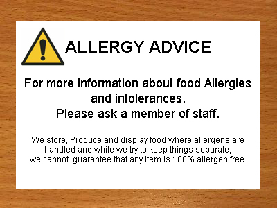 Allergy and Product Information