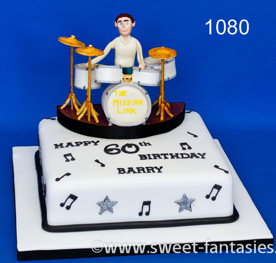 Drummer birthday cake - sweet fantasies