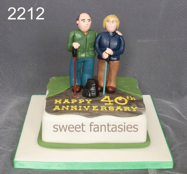 Novelty Wedding Anniversary Cake