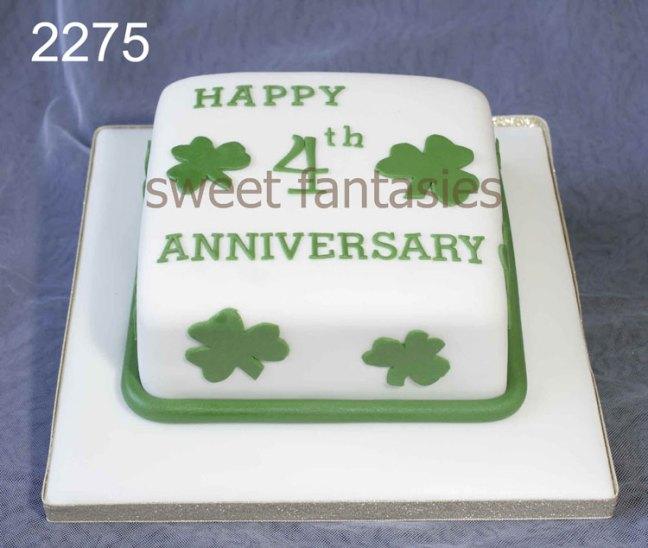 4th Wedding Anniversary Wedding Cake