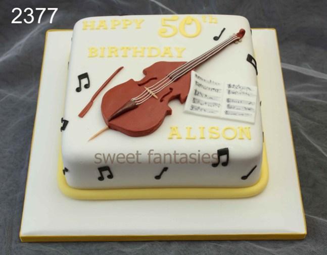 music birthday cake - sweet fantasies