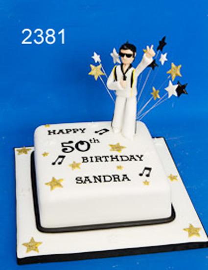 Elvis themed birthday cake - sweet fantasies