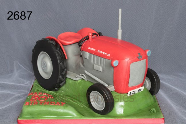 3D Massey Ferguson Tractor Birthday Cake