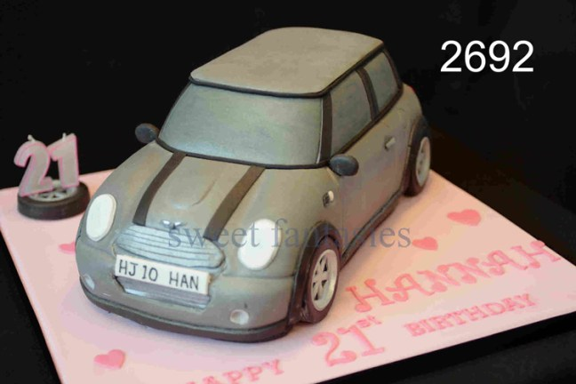 3D Grey Mini Car Birthday Cake