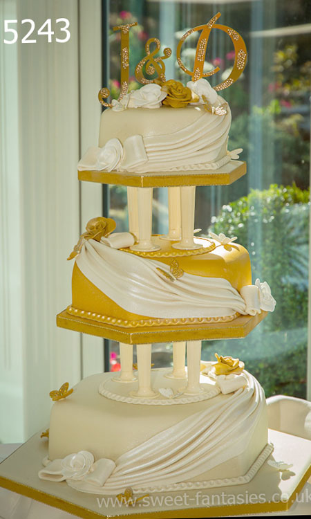 Anniversary cake designs - 3 tier