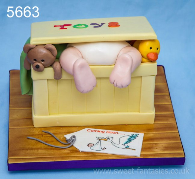 Toy Box Baby Shower Cake