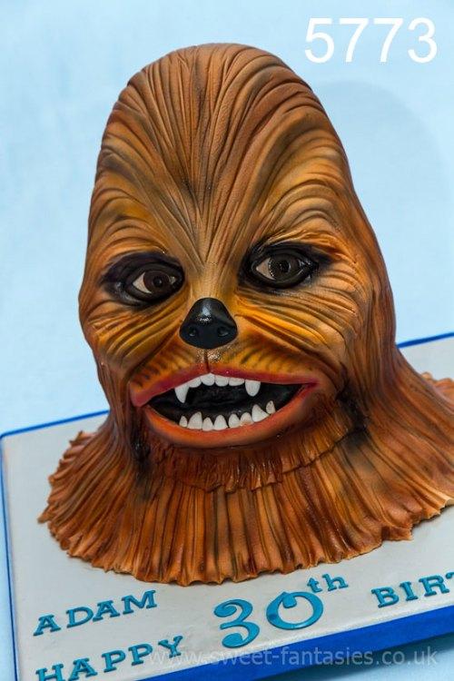 3D chewbacca, birthday cake