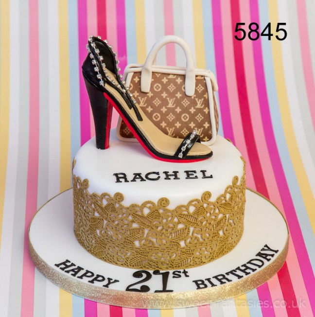 Handbag & Shoe - Girls 21st birthday cake