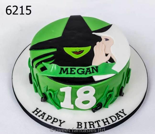 Wicked - girls 18th birthday cake