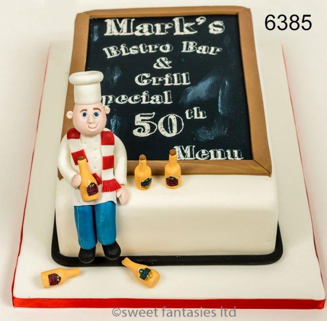 Chef themed 50th birthday cake