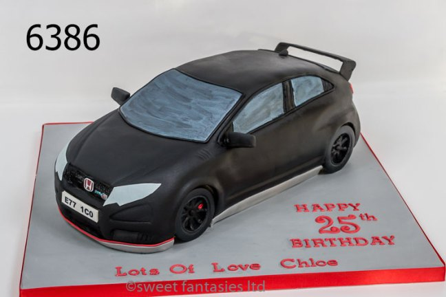 3D Honda Car Birthday Cake