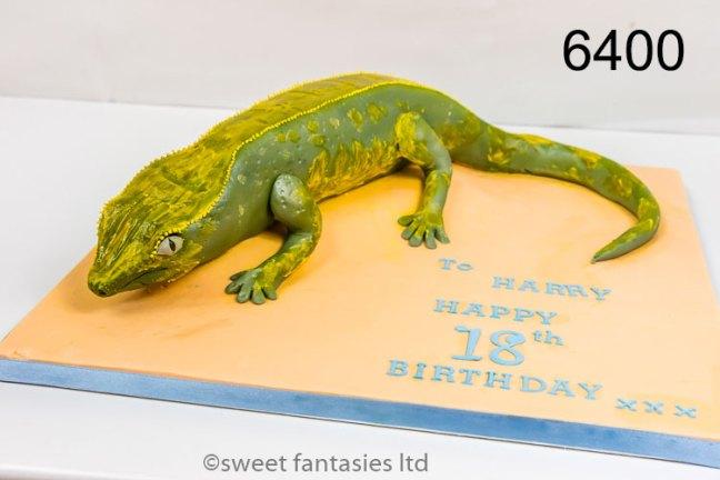 3D lizard, boys 18th birthday cake