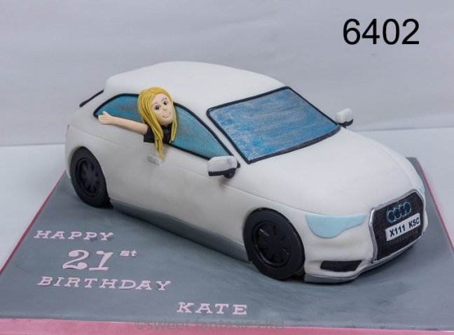 3D Audi Car Birthday Cake