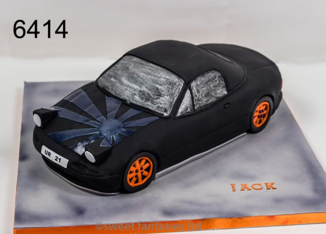 3D Mazda Sports Car, Birthday Cake