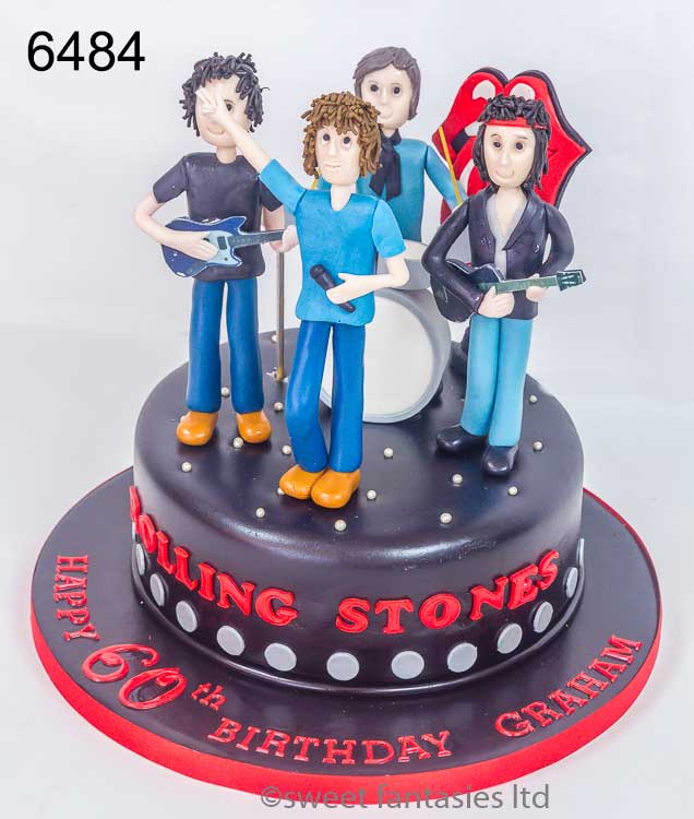 rolling stone birthday cake