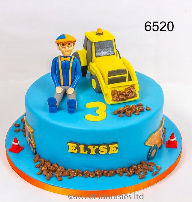 Blippi & Digger Birthday Cake