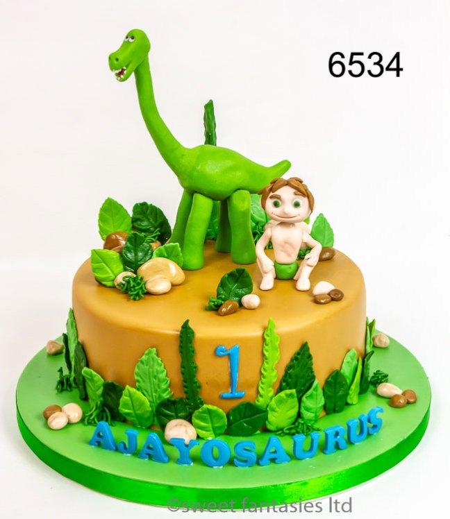 Boys Birthday Cake, The Good Dinosaur, Spot & Arlo
