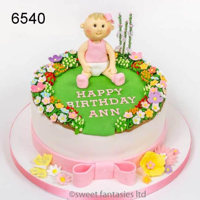 Baby Girls Birthday Cake