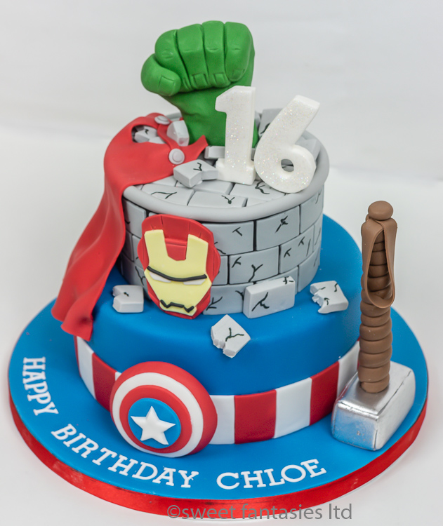 Super Heros 16th Birthday Cake