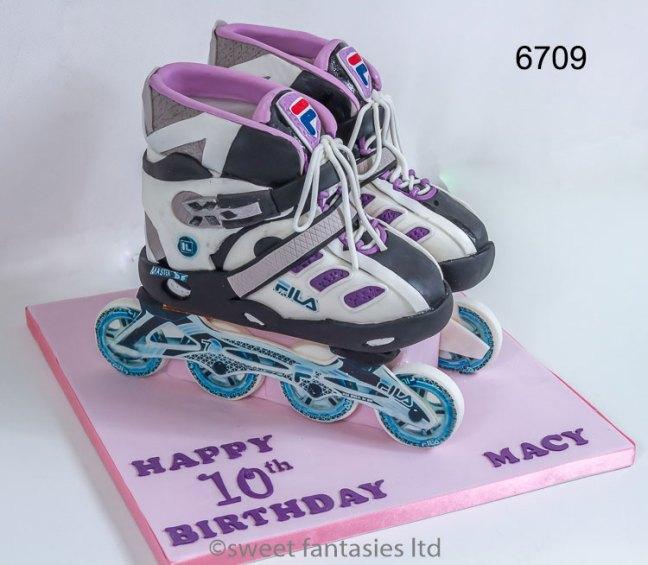 3D Roller Skates Girls Birthday Cake