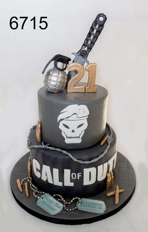 Call of Duty 21st birthday cake