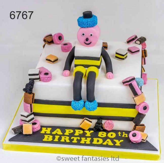 Bertie Bassett, mans 80th birthday cake