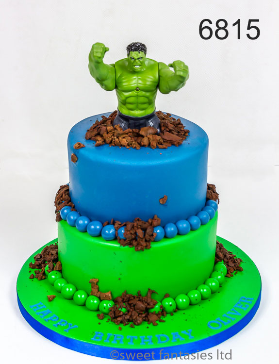 Hulk birthday cakes for a boy