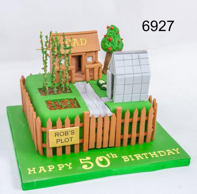 Garden themed 50th birthday cake
