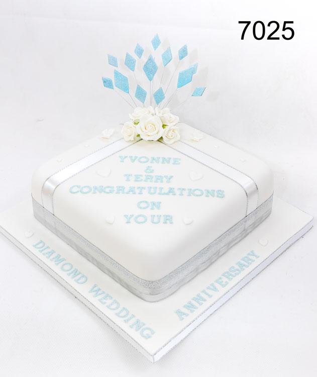 Diamond Wedding anniversary Cake