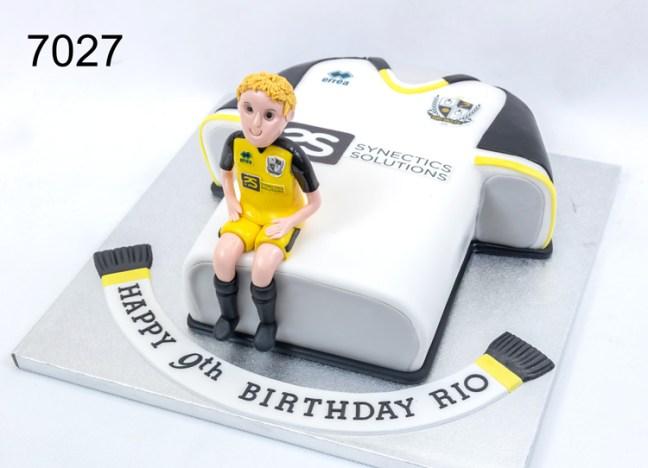 3D Football Shirt & Player Birthday Cake