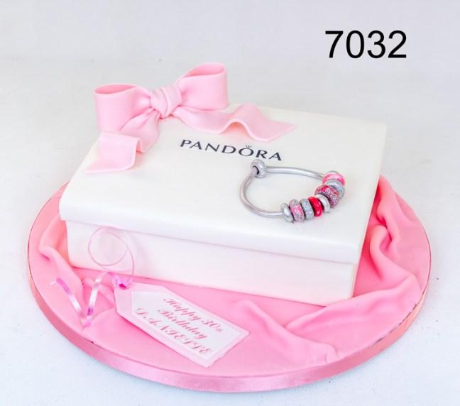 3D White Pandora Box & bracelet