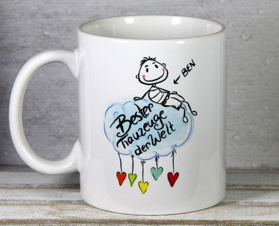Geschenkidee Bester Trauzeuge Danke Tasse  Personalisierte Geschenke von My Sweetheart