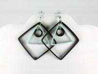 Modern Black and White Geometric Earrings | Sweethearts ...