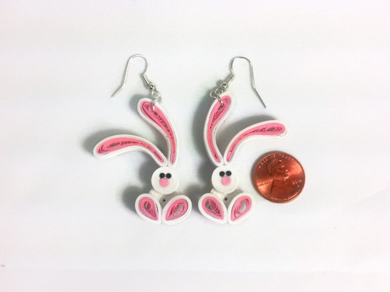 Cute Bunny Earrings Paper Quilling Sweethearts And Crafts