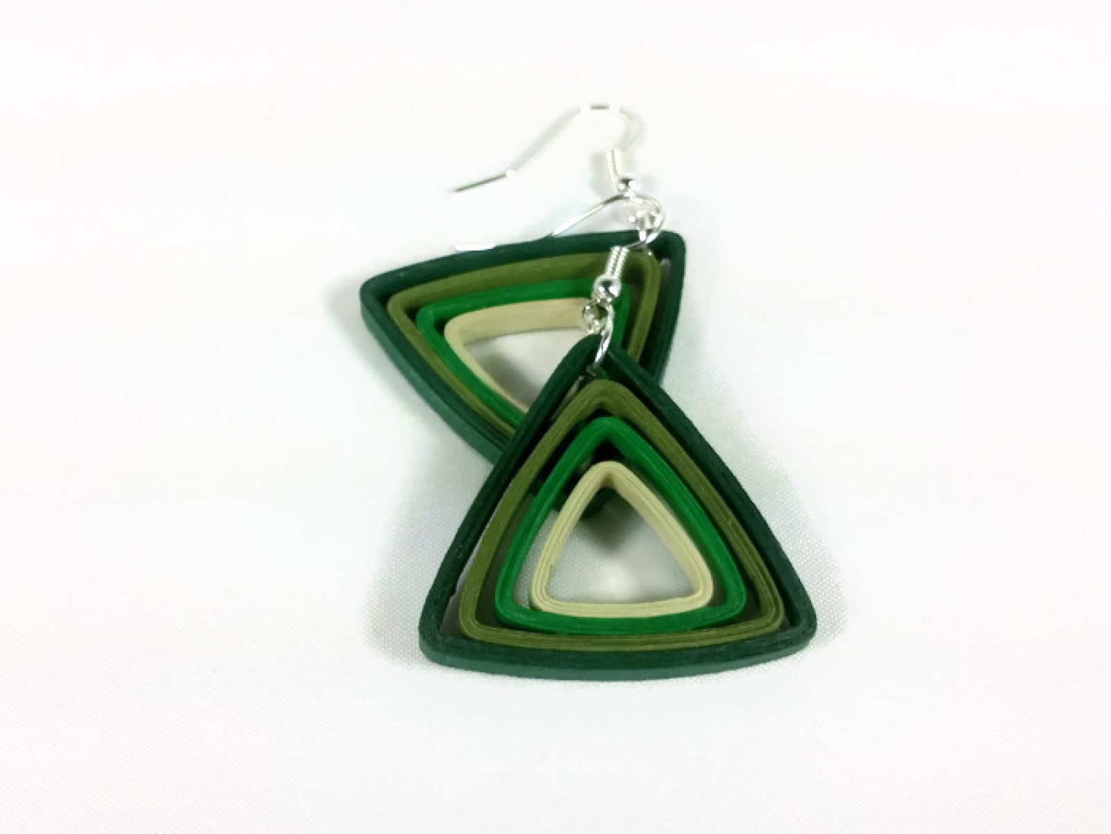 Paper Triangle Earrings Modern Quilling Multiple Colors
