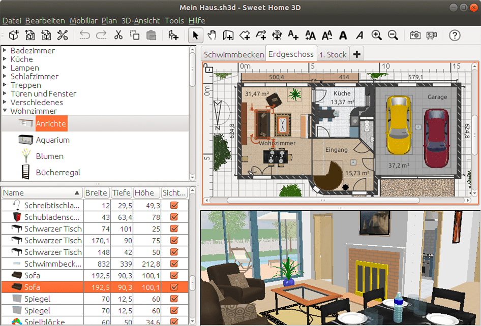 Design your ideal home on your pc. Sweet Home 3d Draw Floor Plans And Arrange Furniture Freely