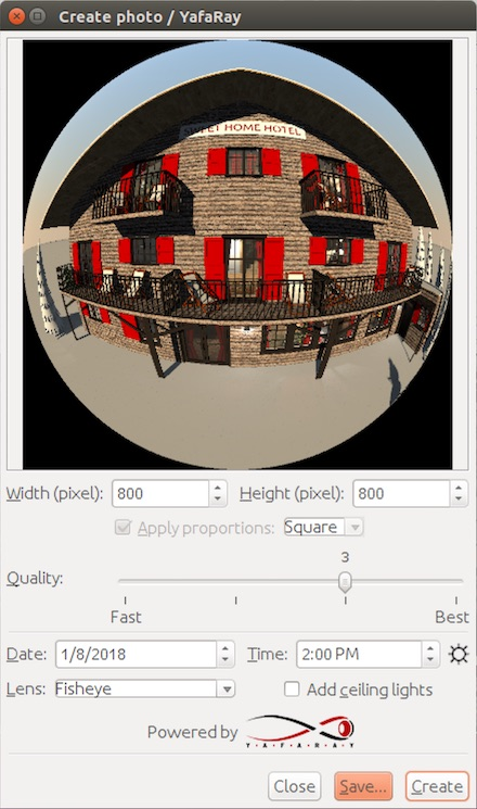 We used yafray as renderer, and the materials' setup are optimized to use with it. Sweet Home 3d Forum View Thread Yafaray Rendering Plug In