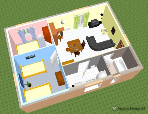 Draw the plan of your home or office, test furniture layouts and visit the results in 3d. Sweet Home 3d Gallery