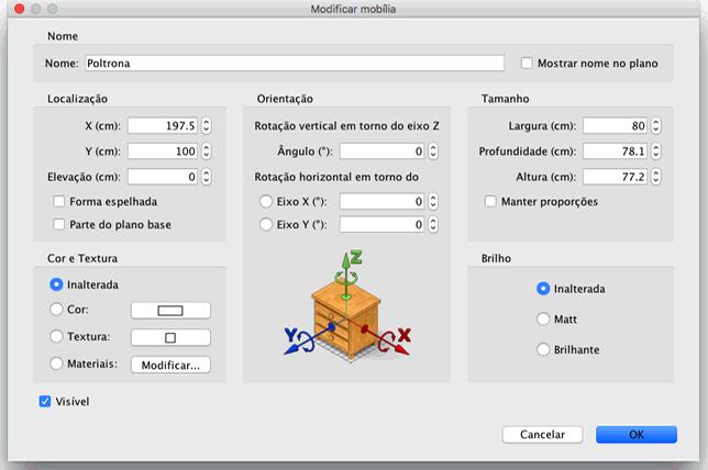 Editing furniture attributes