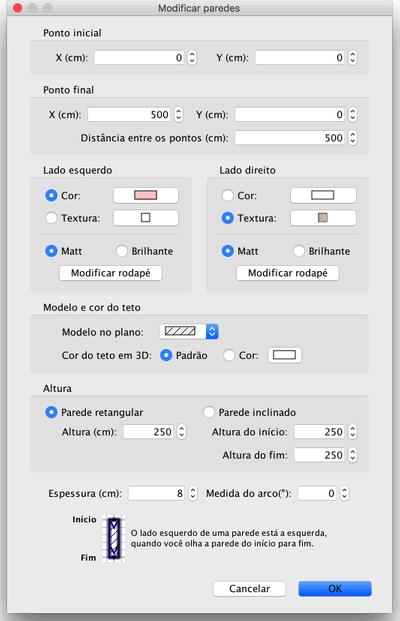 Editing wall attributes