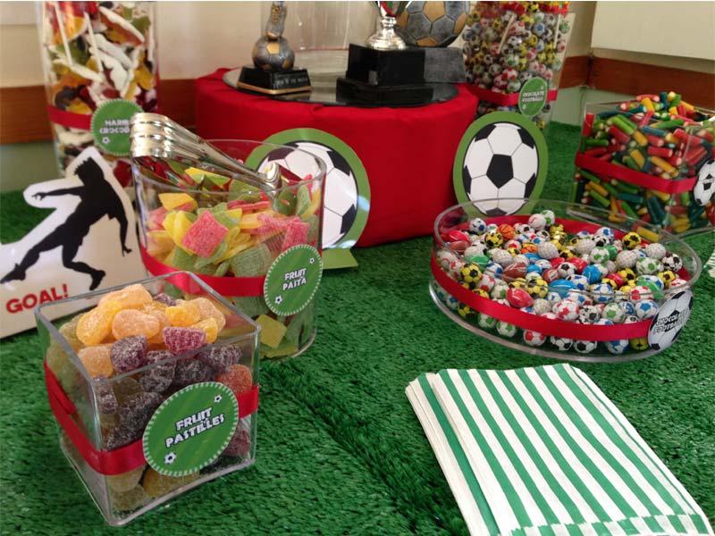 Football Cake And Cupcakes