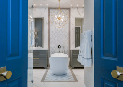 Master Bathroom Renovation | Gold, Gray & Cobalt | Spring Valley | Houston, TX