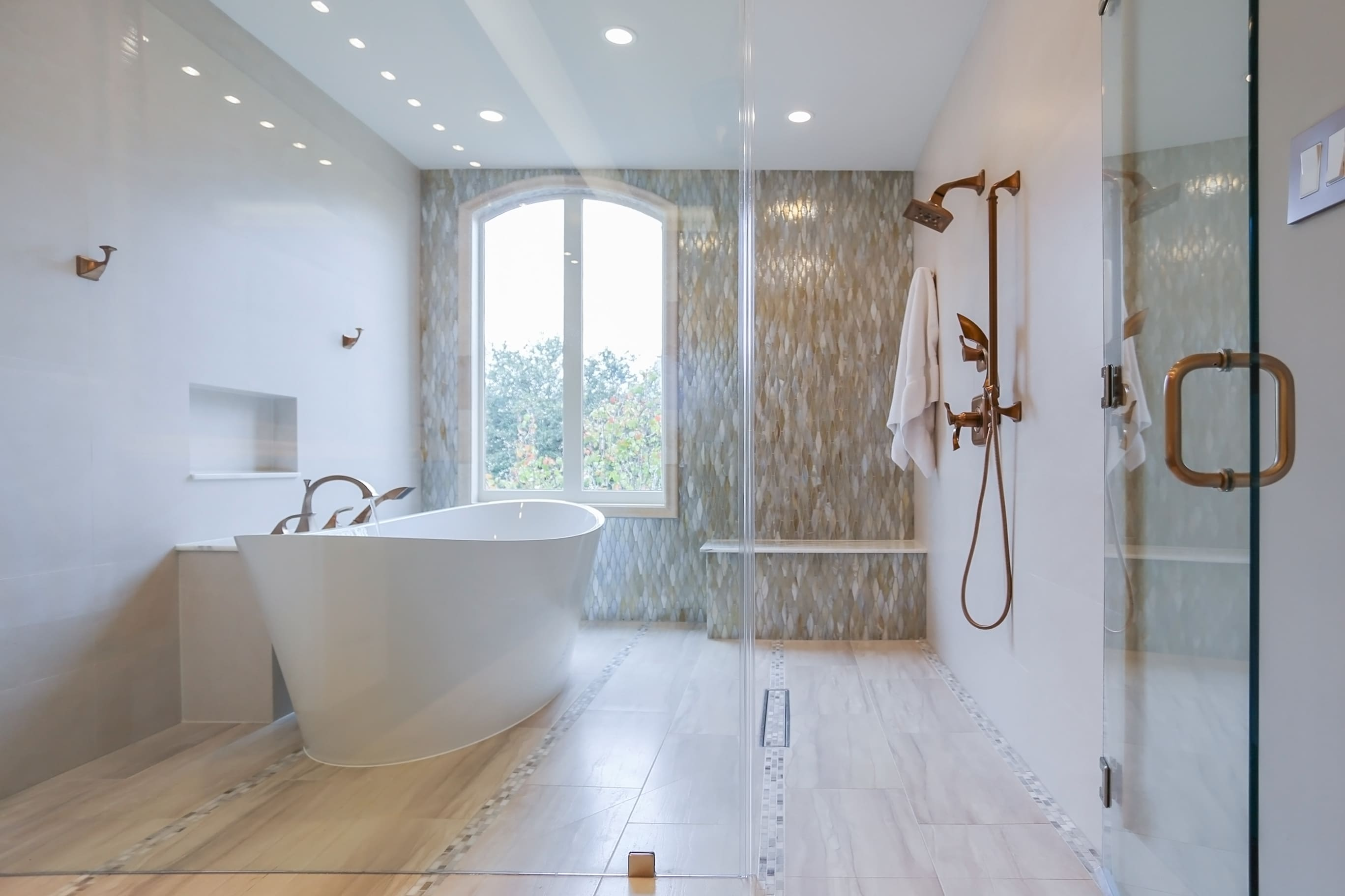 River Oaks | Houston, Texas | Tranquil Spa Master Bathroom Remodel ...
